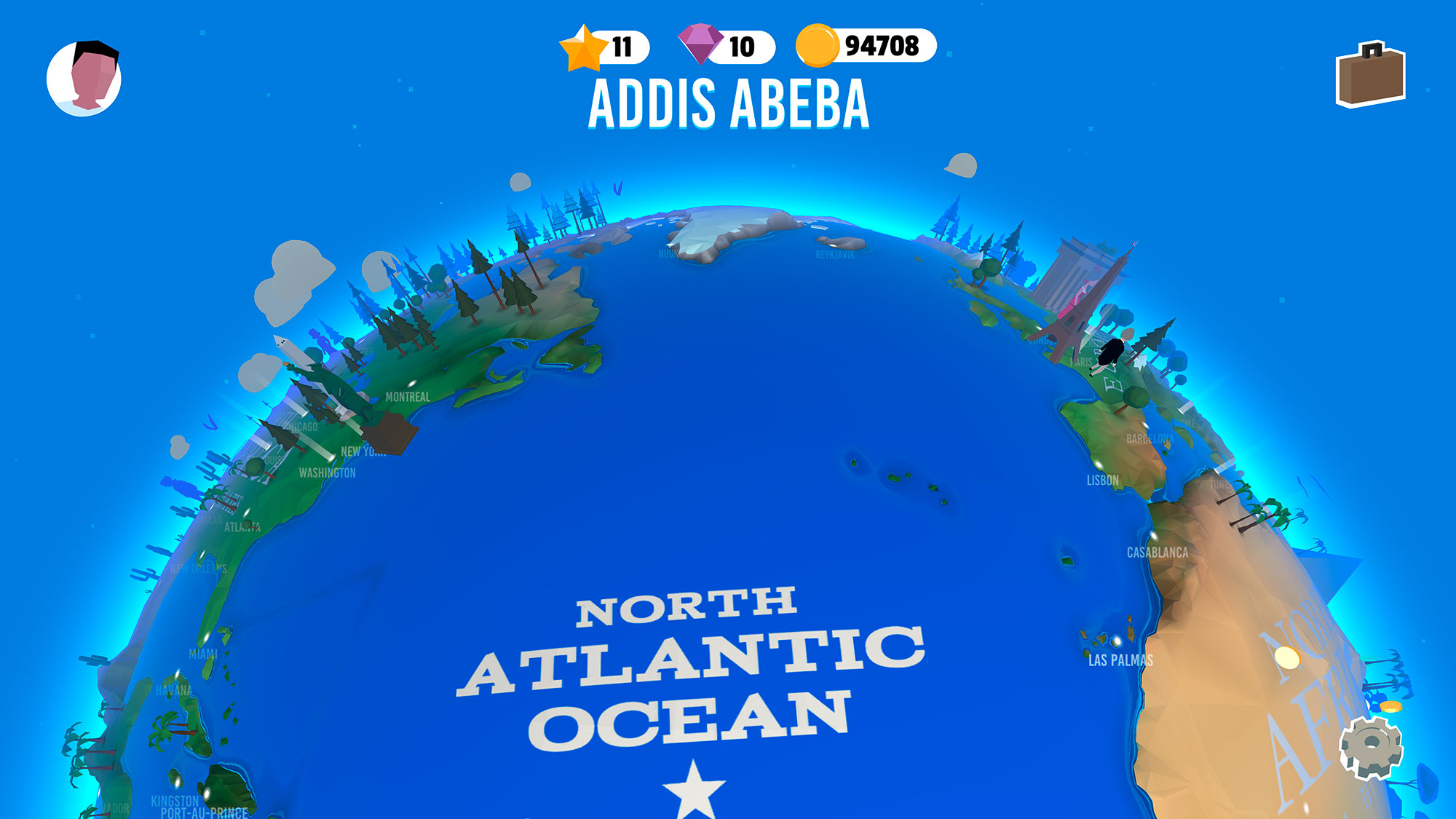 The North Atlantic hemisphere